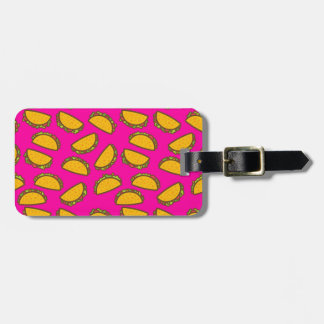 pink tacos luggage tag