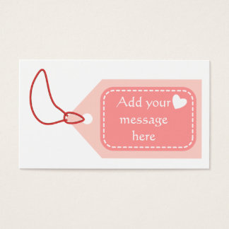 Pink Tag Business Card
