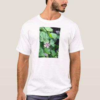 Pink Tall Mallow (Malva Sylvestris) flowers T-Shirt