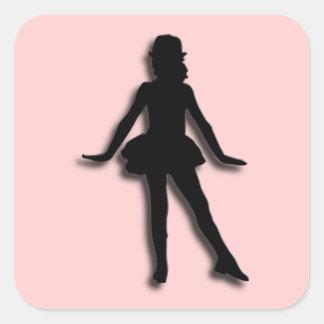 Pink Tap Dancer Square Sticker
