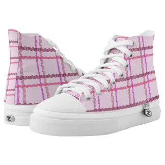 Pink Tartan Hi Tops
