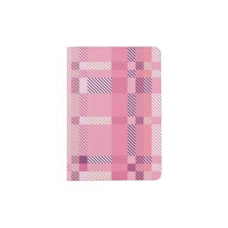 Pink Tartan Plaid Passport Holder