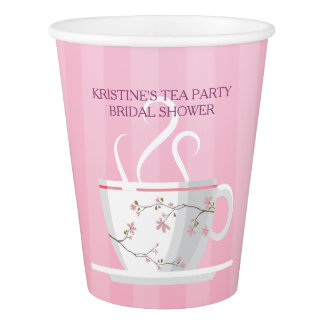 Pink Tea Party Paper Cup