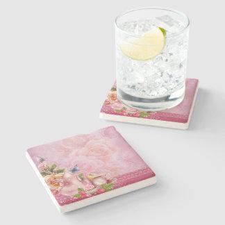 Pink Tea Party Stone Coaster