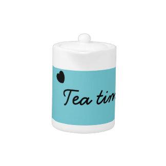 Pink tea pot.