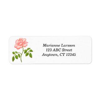 Pink Tea Rose Address Labels
