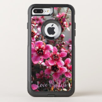"Pink Tea Tree iPhone case ""Love Matters""."