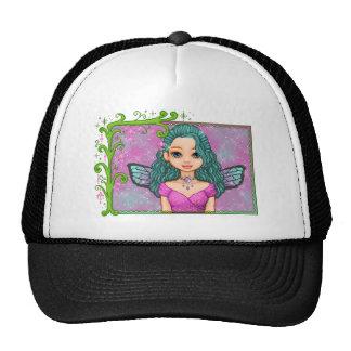 Pink & Teal Faery Pixel Art Trucker Hat