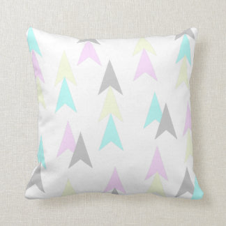 Pink & Teal Modern Graphic Triangle Throw Pillow