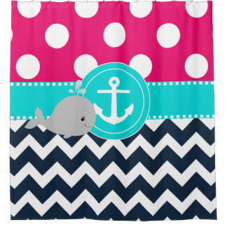 Pink Teal Navy Whale