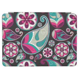 Pink Teal Paisley Pattern iPad Air Cover