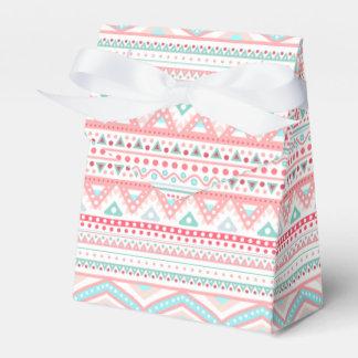 Pink & Teal Tribal DesignTent Favor Box