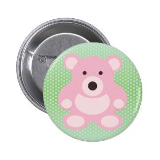 Pink Teddy Bear 2 Inch Round Button