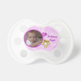 Pink Teddy Bear Baby Pacifier