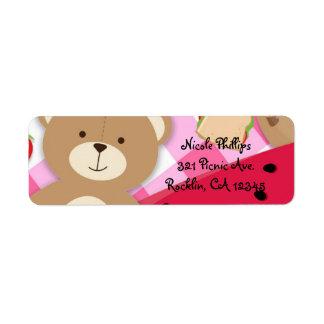 Pink Teddy Bear Picnic Birthday Party Invitation