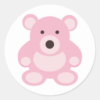 Pink Teddy Bear Stickers