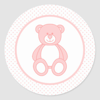 Pink Teddy Bear Stickers