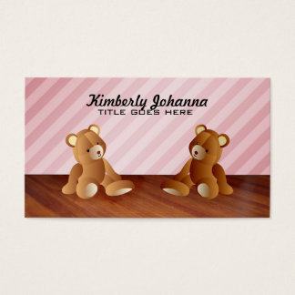Pink Teddy Bears Business Cards