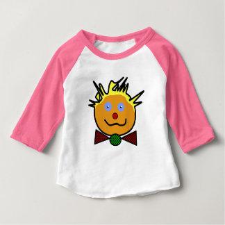 "Pink tee-shirt for baby, raglan sleeves, ""Clown "" Tees"