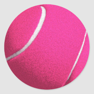 Pink Tennis Classic Round Sticker