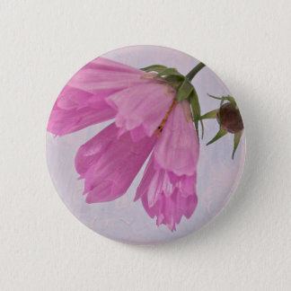 Pink Textured Cosmo Flower Pin Button