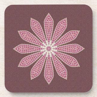 Pink Textured Flower Coaster