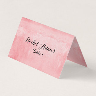 Pink Textured Wedding Place  Card
