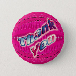 Pink Thank You 2 Inch Round Button