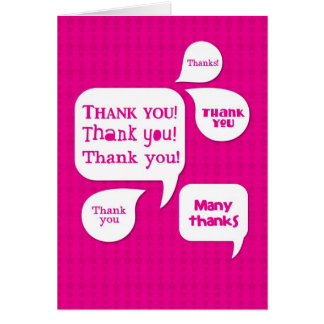 pink thank you! card