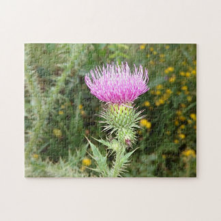 Pink Thistle Jigsaw Puzzle