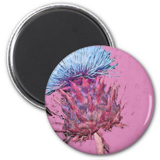 pink thistle magnet