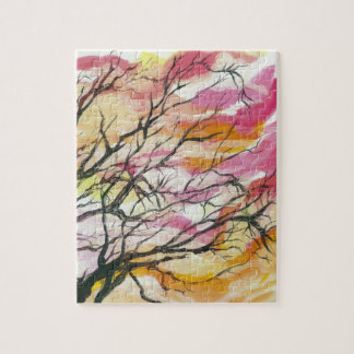 "Pink Through The Trees 8"" x 10"" Designer Puzzle"
