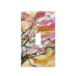 Pink Through The Trees Designer Light Switch Cover