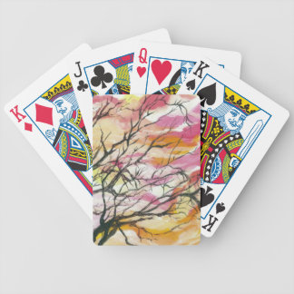 Pink Through The Trees Designer Playing Cards