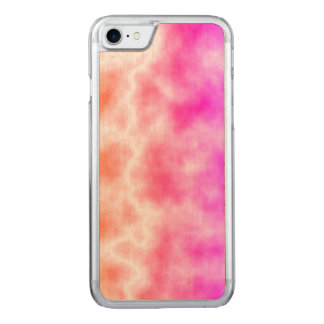 Pink Thunder Storm Sky Carved iPhone 8/7 Case