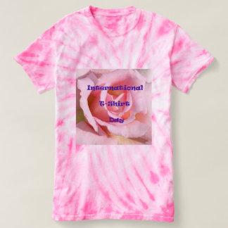 Pink Tie Dye International T-Shirt Day T-Shirt