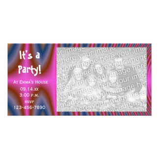 Pink Tie Dye Party Invitation Photo Card