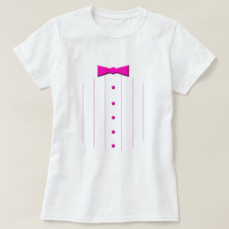 Pink tie tuxedo T-Shirt