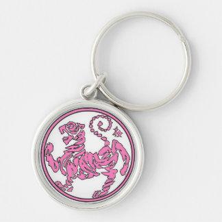 Pink Tiger Keychain