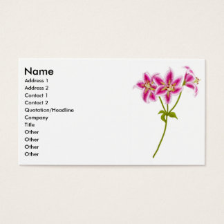 Pink Tiger Lily Business Card