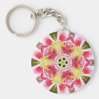 Pink Tiger Lily - Keychain