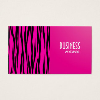 Pink Tiger Print Design Business Card