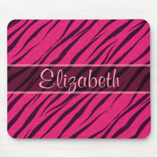 Pink Tiger Stripes Skin Pattern Personalize Mouse Pad