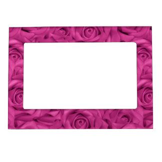 Pink Tiled Roses Magnetic Frame