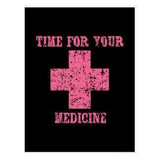 Pink Time for your Medicine Postcard