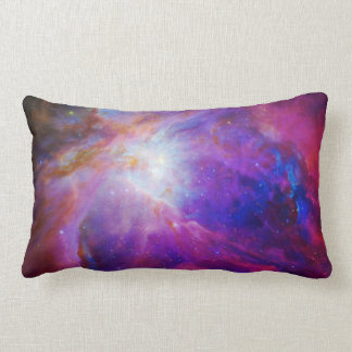 Pink Tinted Orion Nebula Lumbar Pillow