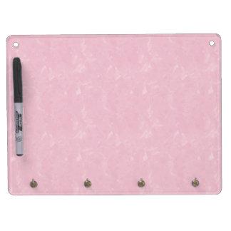 Pink Tissue Dry Erase Board With Keychain Holder