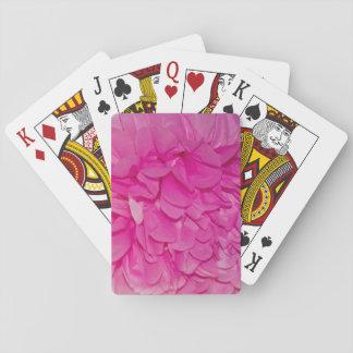 Pink Tissue Paper Flower Texture Poker Deck