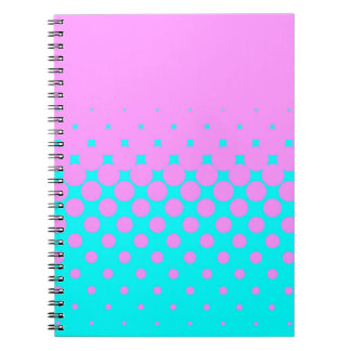 Pink to Blue Spiral Notebook