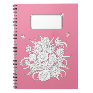 pink to summer bouquet spiral notebook